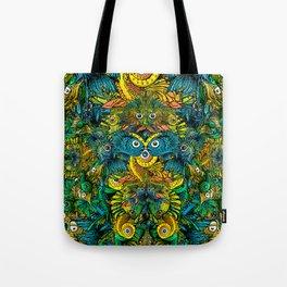 Pattern: Fish Orgy Tote Bag