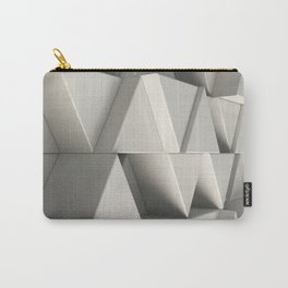 Pattern of white triangle prisms Carry-All Pouch