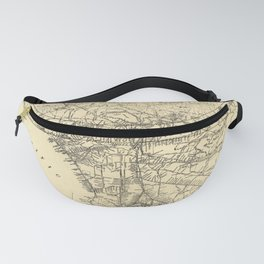 Vintage Los Angeles County Railway Map (1912) Fanny Pack