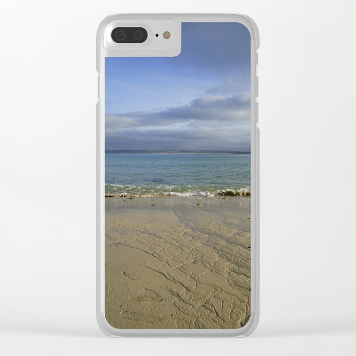 Patterns in the Sand with Blue Skies Above Clear iPhone Case