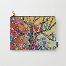 Tree of Owls Carry-All Pouch