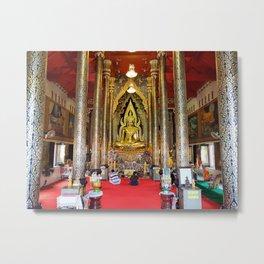 Wat Nang Phaya, Phitsanulok, Thailand Metal Print
