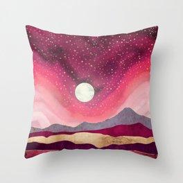 Scarlet Night Throw Pillow