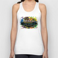 las vegas Tank Tops featuring Welcome to Las Vegas by Gary Grayson