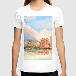 12,000pixel-500dpi - David Cox - View of Lambeth Palace on Thames - Digital Remastered Edition T-shirt