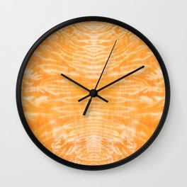 underwater fire, a coral dream of tree branches in orange Wall Clock