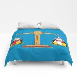 funny zodiac/libra Comforters