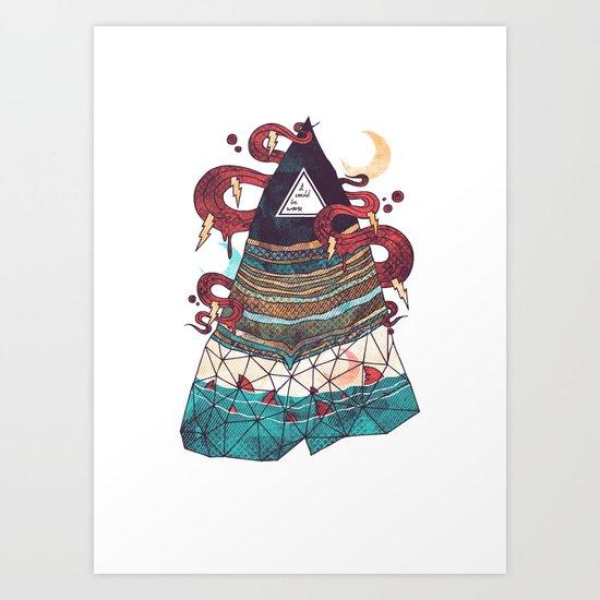 Positive Thinking Art Print