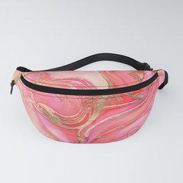 Rose Calla Lily Abstract Fanny Pack