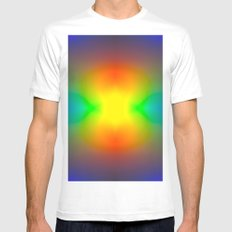 Rainbow abstract White Mens Fitted Tee MEDIUM