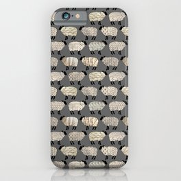 Wee Wooly Sheep in Aran Sweaters  iPhone Case