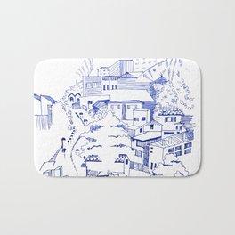 Twin Peaks - Urban sketch Bath Mat