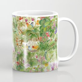 Compilation of Orchids and Parrots Series Coffee Mug