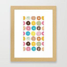 Donut - Doughnut - Bagel - Pattern Framed Art Print