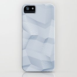 Facets - White and dark blue iPhone Case