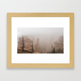 Bryce Canyon Obscured Framed Art Print
