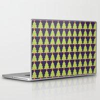 christmas tree Laptop & iPad Skins featuring CHRISTMAS TREE by aztosaha