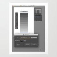 50 SHADES OF GREY vs ADOBE ILLUSTRATOR Art Print