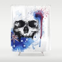 pride Shower Curtains featuring Pride by RhiCreated