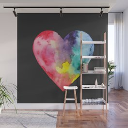 #LoveWins Watercolor Painting (Black) Wall Mural