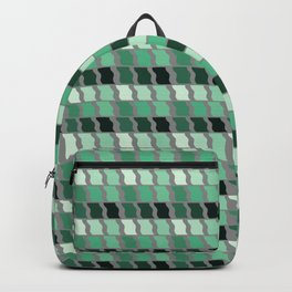 Shades of Green Geometric Pattern Backpack