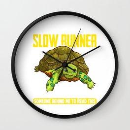 I Am a Slow Runner Funny Turtle Running Joke Wall Clock