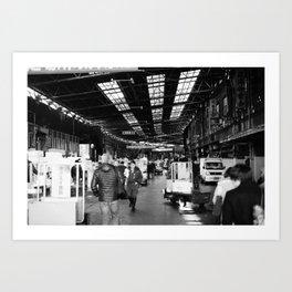 The Entry to Tsukiji Fish Market, Tokyo, Japan Art Print