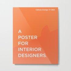 BDFD - Interior Designer Metal Print