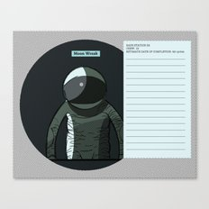 Moon Wreak Files Canvas Print