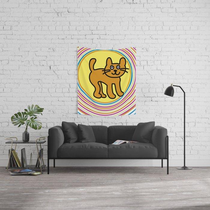 gatito Wall Tapestry