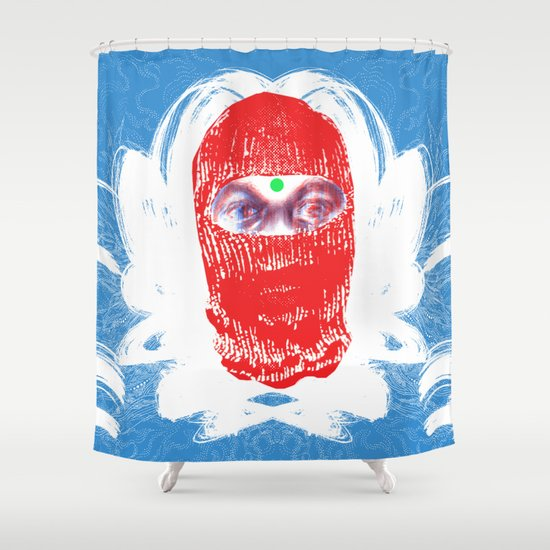 """""""New Slaves"""" by Justin Hopkins Shower Curtain"""