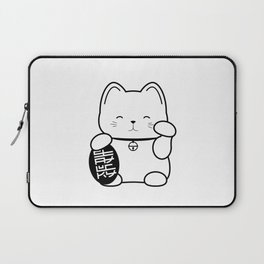 Stay Lucky WHT Laptop Sleeve