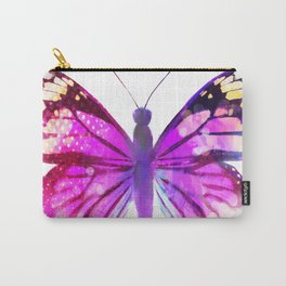 Pink Butterfly Carry-All Pouch