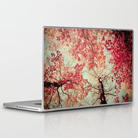 blood Laptop & iPad Skins featuring Autumn Inkblot by Olivia Joy StClaire