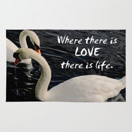 Swans on Lake Rug