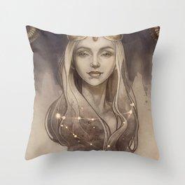Zodiac Capricorn Throw Pillow