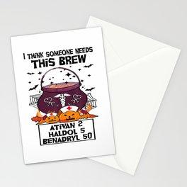 I Think Someone Needs This Brew Ativan 2 Haldol 5 Benadryl T-Shirt Stationery Cards