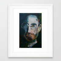 steve jobs Framed Art Prints featuring Steve Jobs by Charles Dowdy