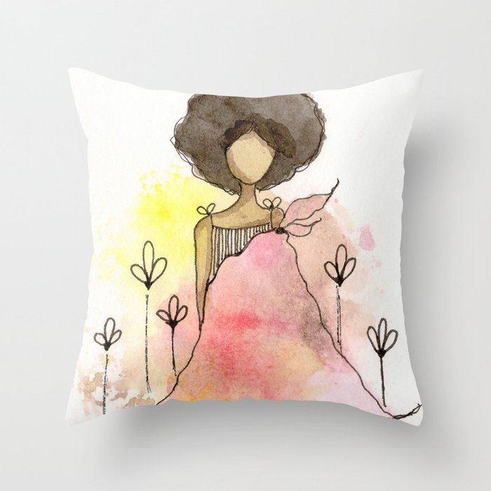Splotch Girl - Freedom Cut Me Loose Throw Pillow