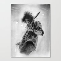 dave grohl Canvas Prints featuring Dave Grohl by Chris Lewis