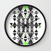 rug Wall Clocks featuring :::Space Rug::: by Süyümbike Güvenç