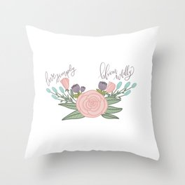Live Simply Floral Art Throw Pillow