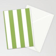 Greenery stripes Stationery Cards