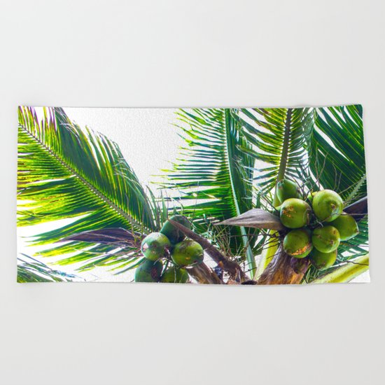 How About Those Coconuts Beach Towel