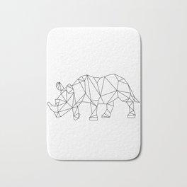 Geometric Rhino Design Bath Mat