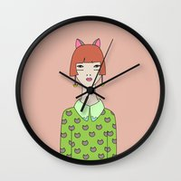 kit king Wall Clocks featuring kit by Sproot