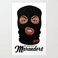 Midnight Marauder$ - Classic Logo Print Art Print
