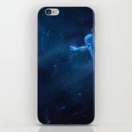 Orchid. Flying in space iPhone Skin