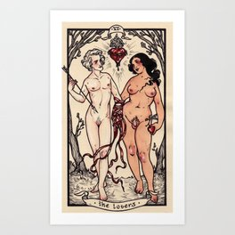 The Lovers Art Print