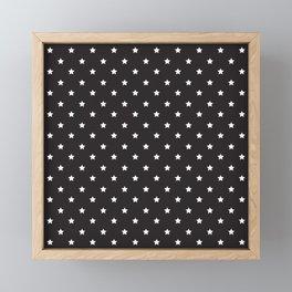 Pattern Etoiles Blanc/Noir Framed Mini Art Print